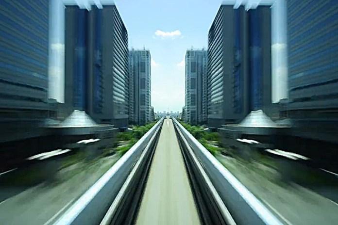 Hyper Drive: Tokyo's Yurikamome Train Line at Light Speed