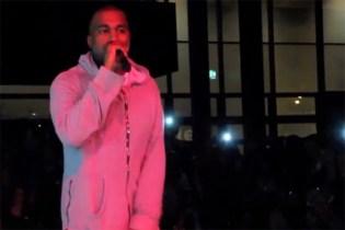 "Kanye West Performs ""New Slaves"" (Acapella) at Art Basel"