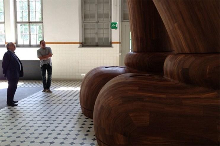 KAWS Previews Massive Wooden Companion
