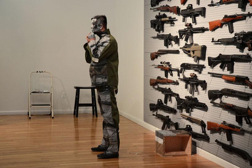 liu bolins gun rack performance eli klein fine art gallery new york