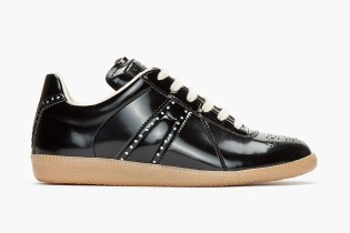Maison Martin Margiela 2013 Fall/Winter Black Patent Reflective Mock-Brogue Sneaker