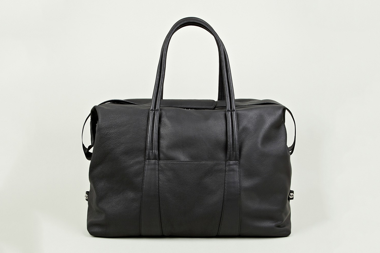 maison martin margiela 2013 pre fall winter black leather holdall
