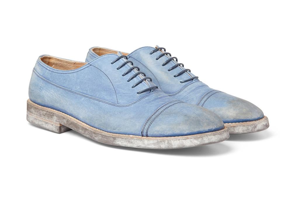 Maison Martin Margiela Washed Leather Oxford Shoes