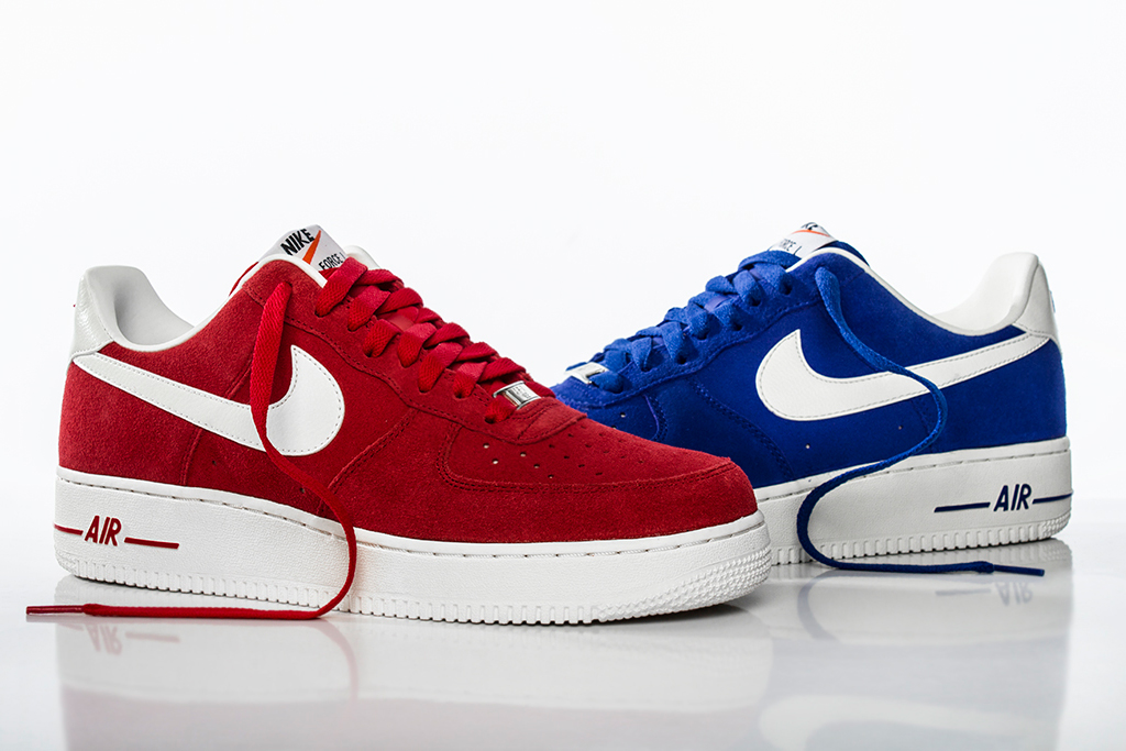 Nike Air Force 1 Hyper Blue and University Red