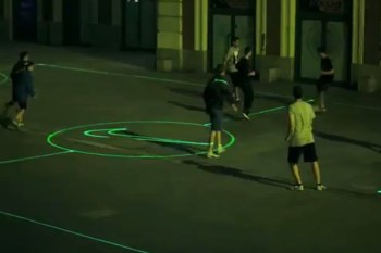 Nike Introduces Laser Soccer Fields to the City Streets of Spain