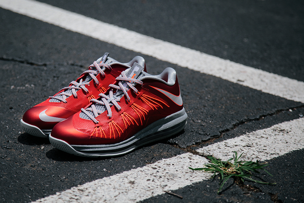nike lebron x low university red pure platinum