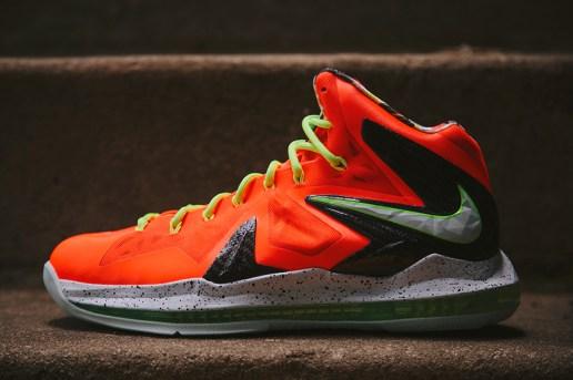 Nike LeBron X P.S. Elite Total Crimson/Fiberglass-Black-Volt