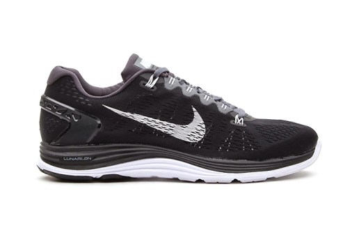 Nike LunarGlide+ 5 Black/White-Dark Grey
