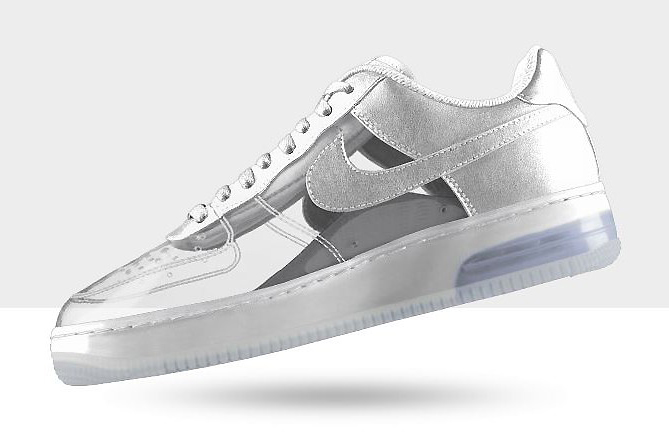 NIKEiD Air Force 1 Invisible and Sparkle Patent Options Now Available