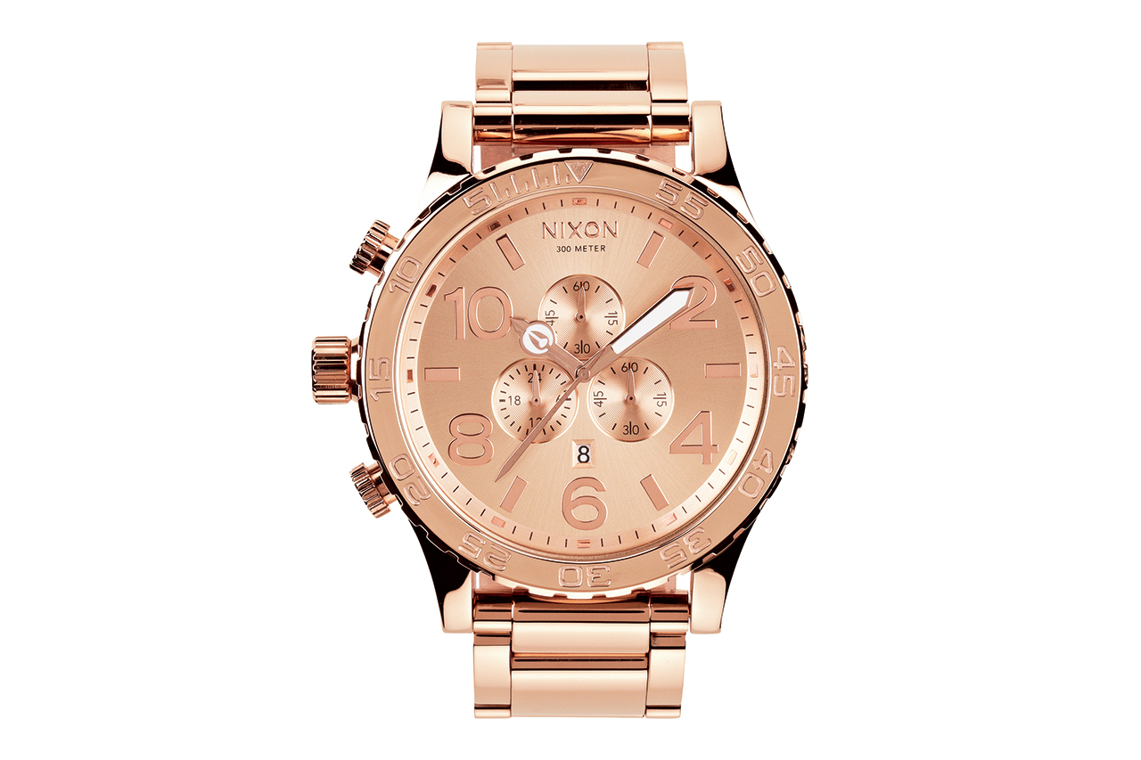 Nixon 51-30 All Rose Gold Chrono Watch