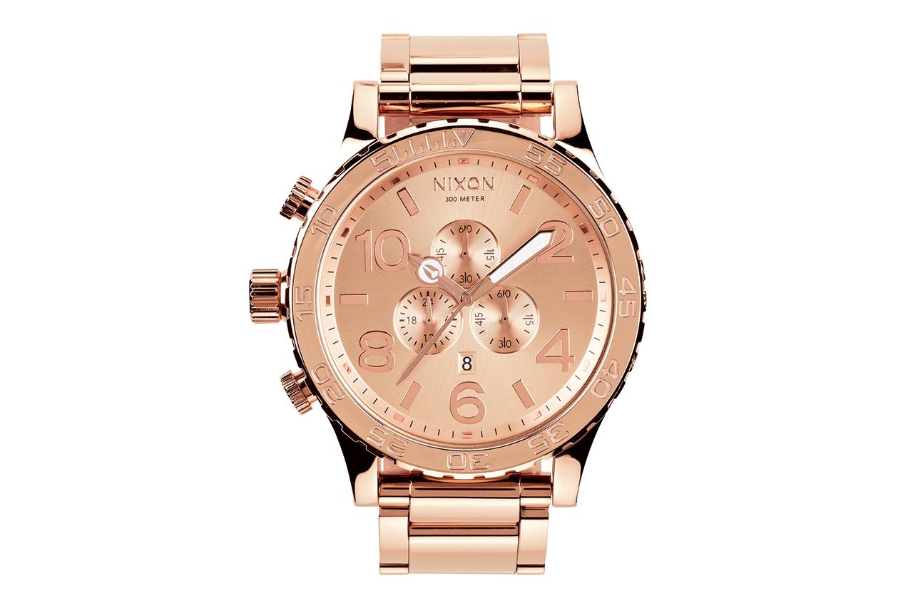 Nixon 51-30 All Rose Gold Chrono Watch