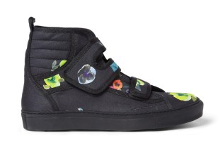 Raf Simons Flower Print High Top Sneakers