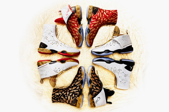 Ray Allen's Golden Air Jordans for the 2013 NBA Finals