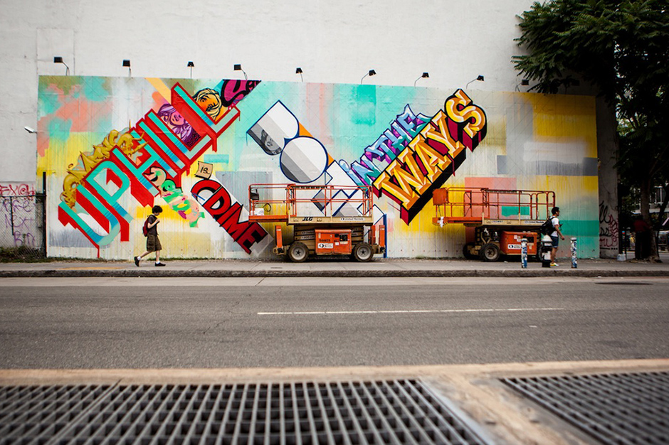 REVOK and POSE Paint Bowery Wall