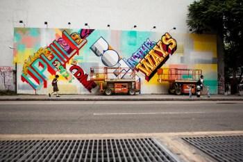 REVOK and POSE Paint Bowery Wall