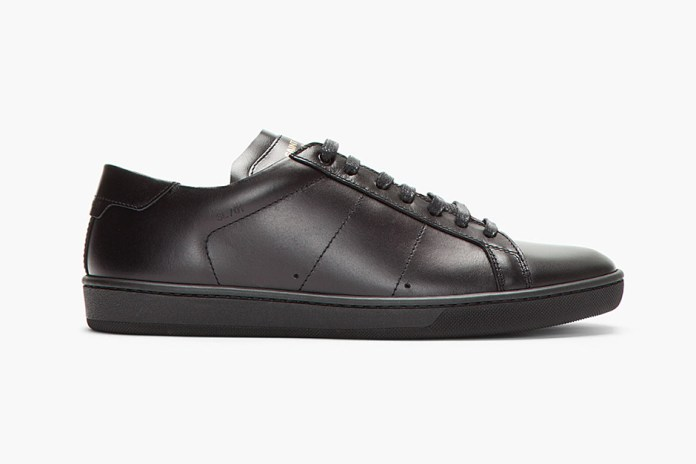 Saint Laurent Black Leather Classic Sneakers