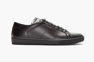 Saint Laurent Black Leather Classic Sneakers