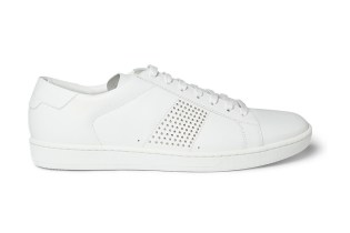 Saint Laurent SL01 Studded Leather Sneakers