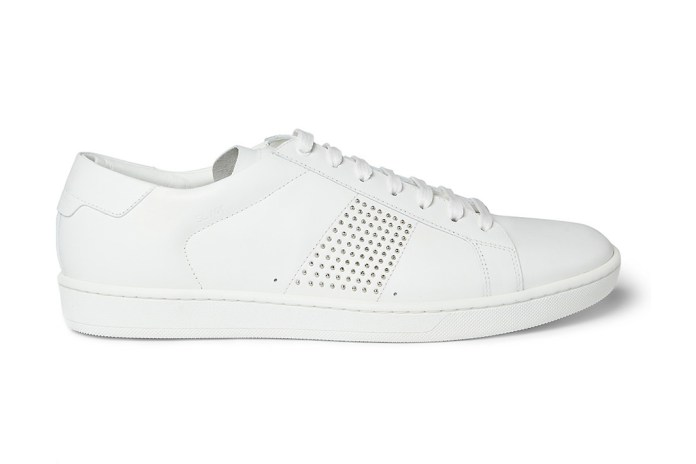 Saint Laurent SL01 Studded Leather Sneakers