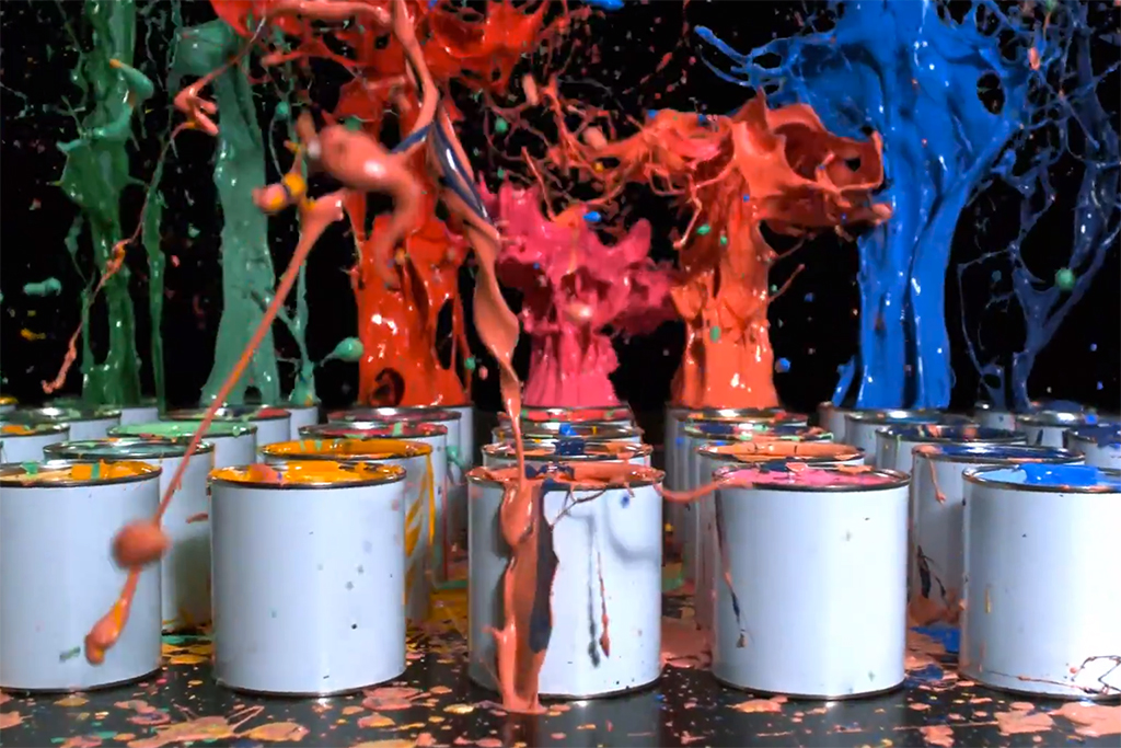 Sony Explodes Paint for New BRAVIA Commercial