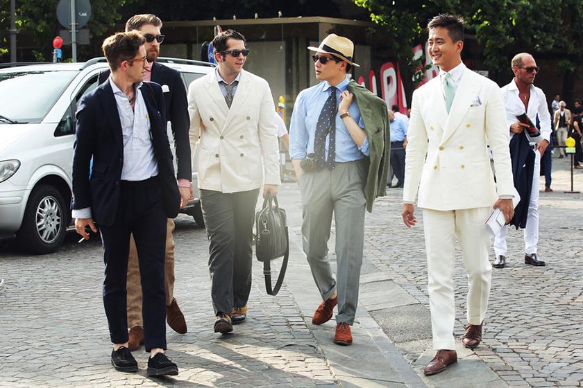 STREETFSN: Pitti Uomo 2013 Summer Street Style Day 1 for GRAZIA.IT