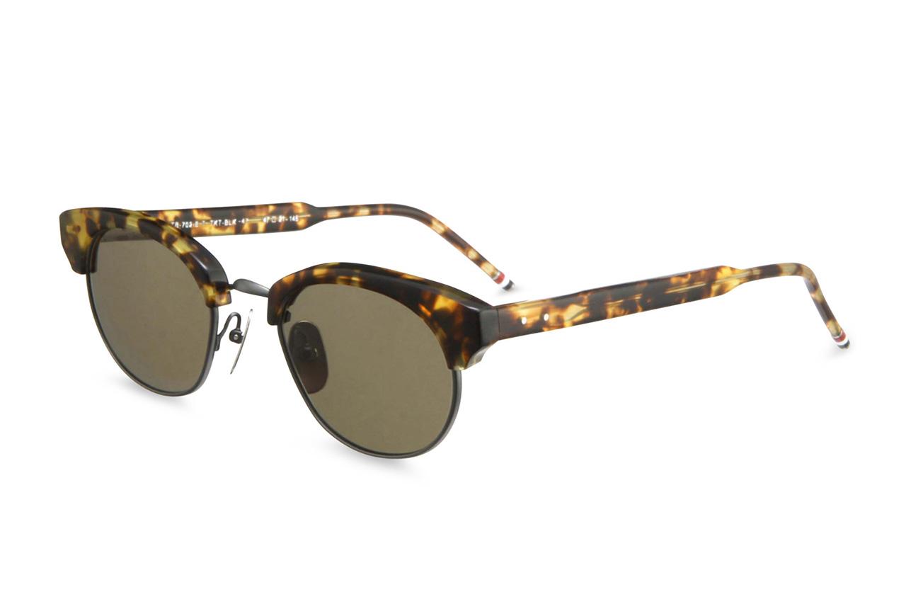 Thom Browne 2013 Spring/Summer Round Gold Frame Sunglasses