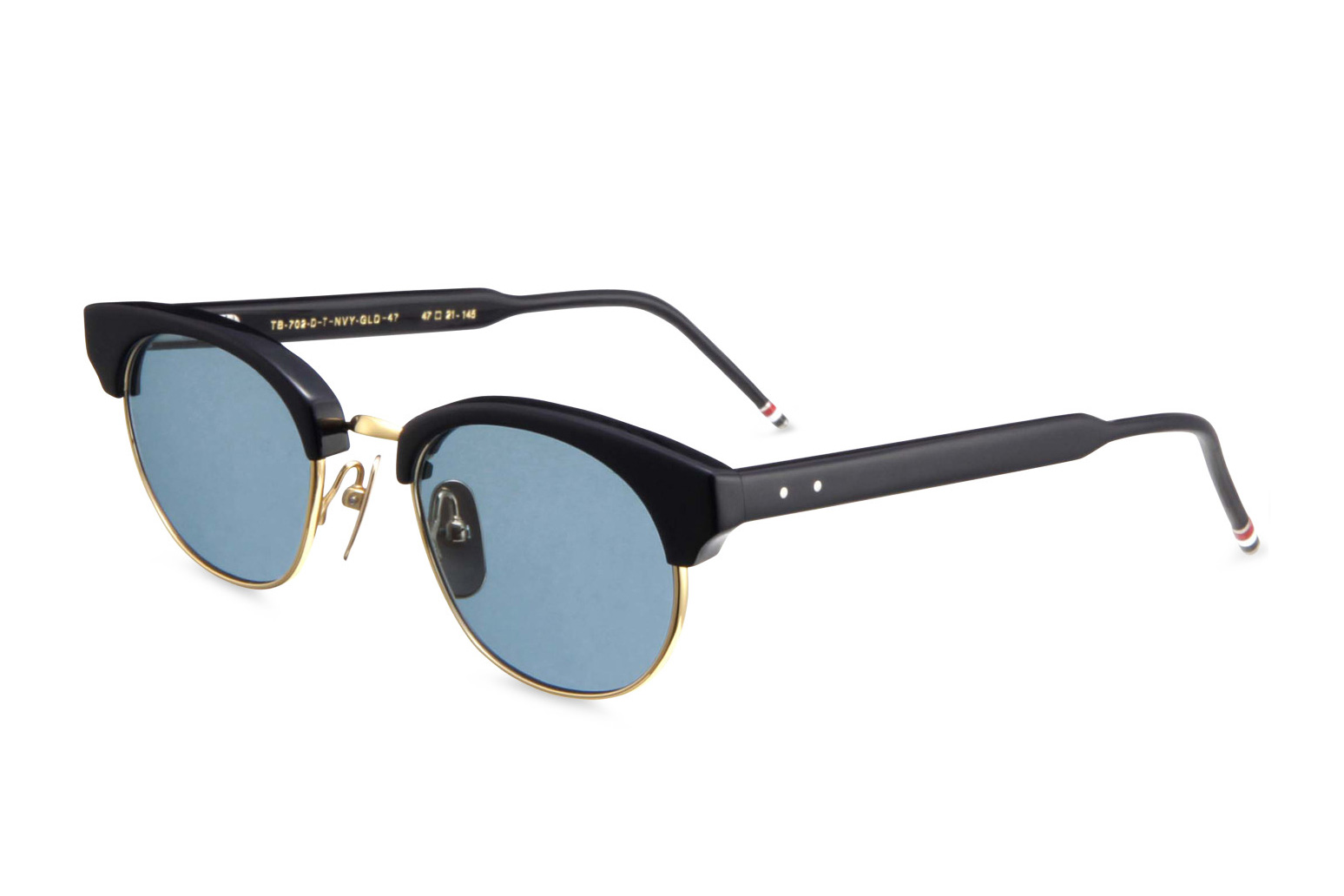 thom browne 2013 spring summer round gold frame sunglasses