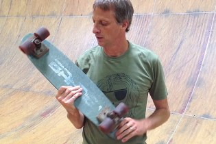 Tony Hawk's Final Ride On His Very First Skateboard