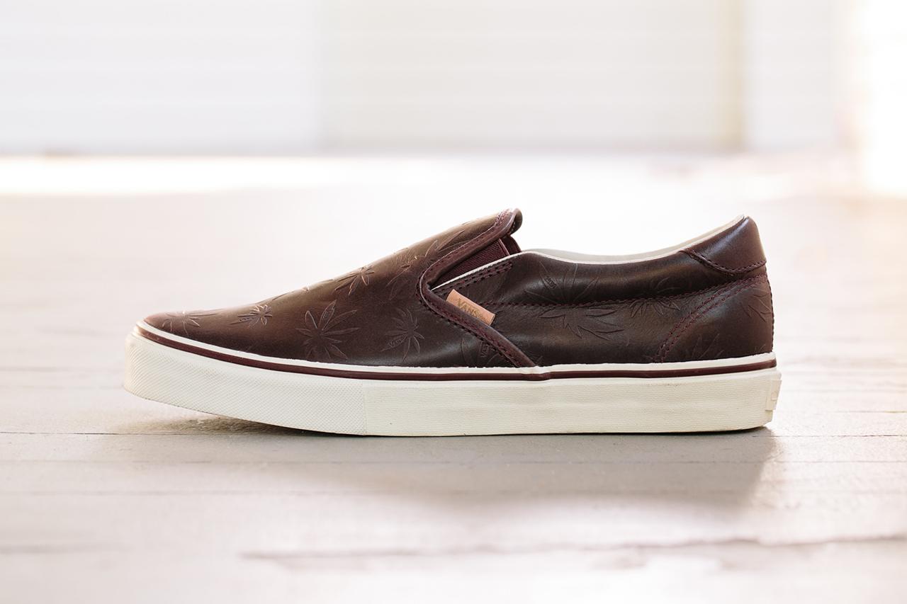 vans vault classic slip on 59 lx leather palm leaf pack