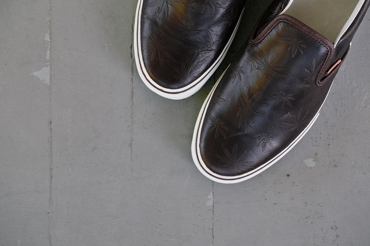 Vans Vault Classic Slip-On 59 LX Leather Palm Leaf Pack