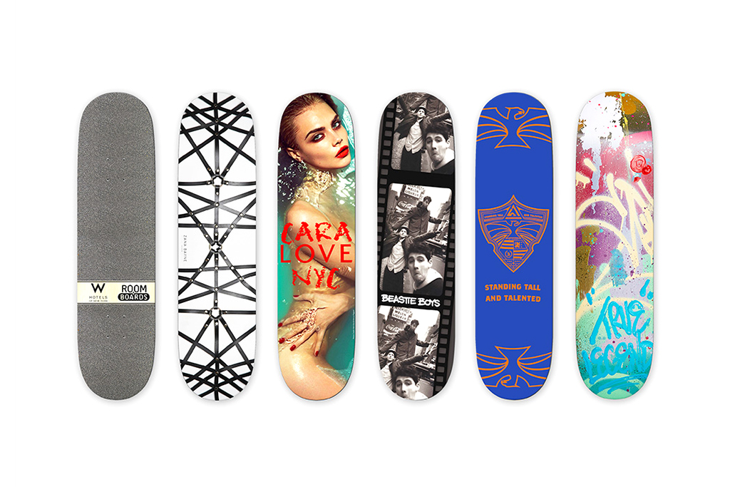 W Hotels Skateboard Deck Collection by Ray Mendez