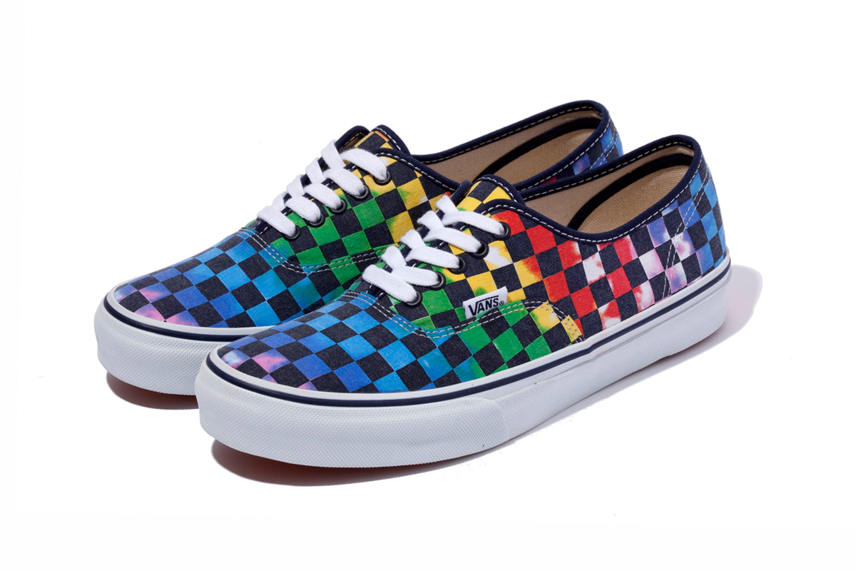 xlarge x vans tie dye checkered flag authentic