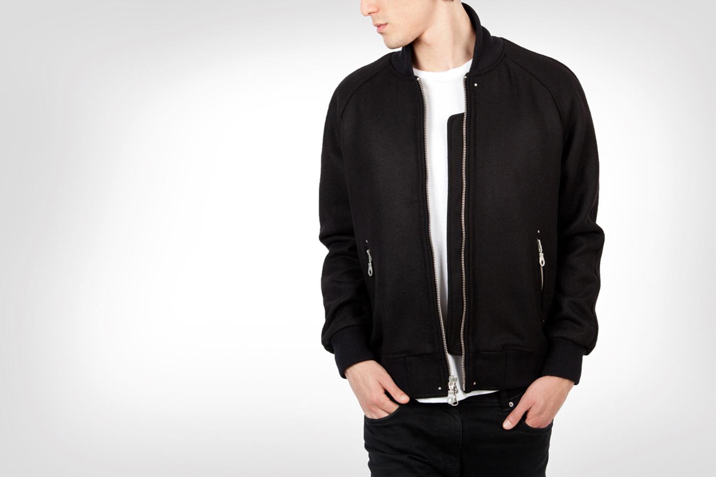 MKI Black 2013 Full Wool Varsity Jackets