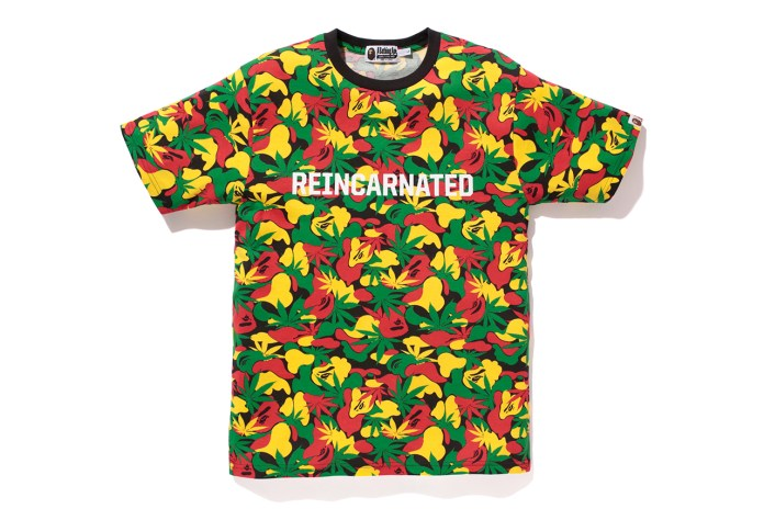 A Bathing Ape x Snoop Lion RASTA CAMO TEE