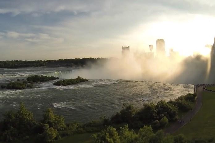 A Quadcopter's Footage of Niagara Falls
