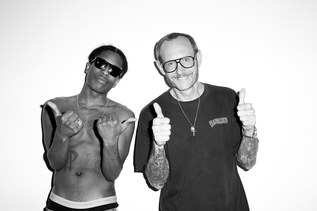A$AP Rocky Visits Terry Richardson's Studio