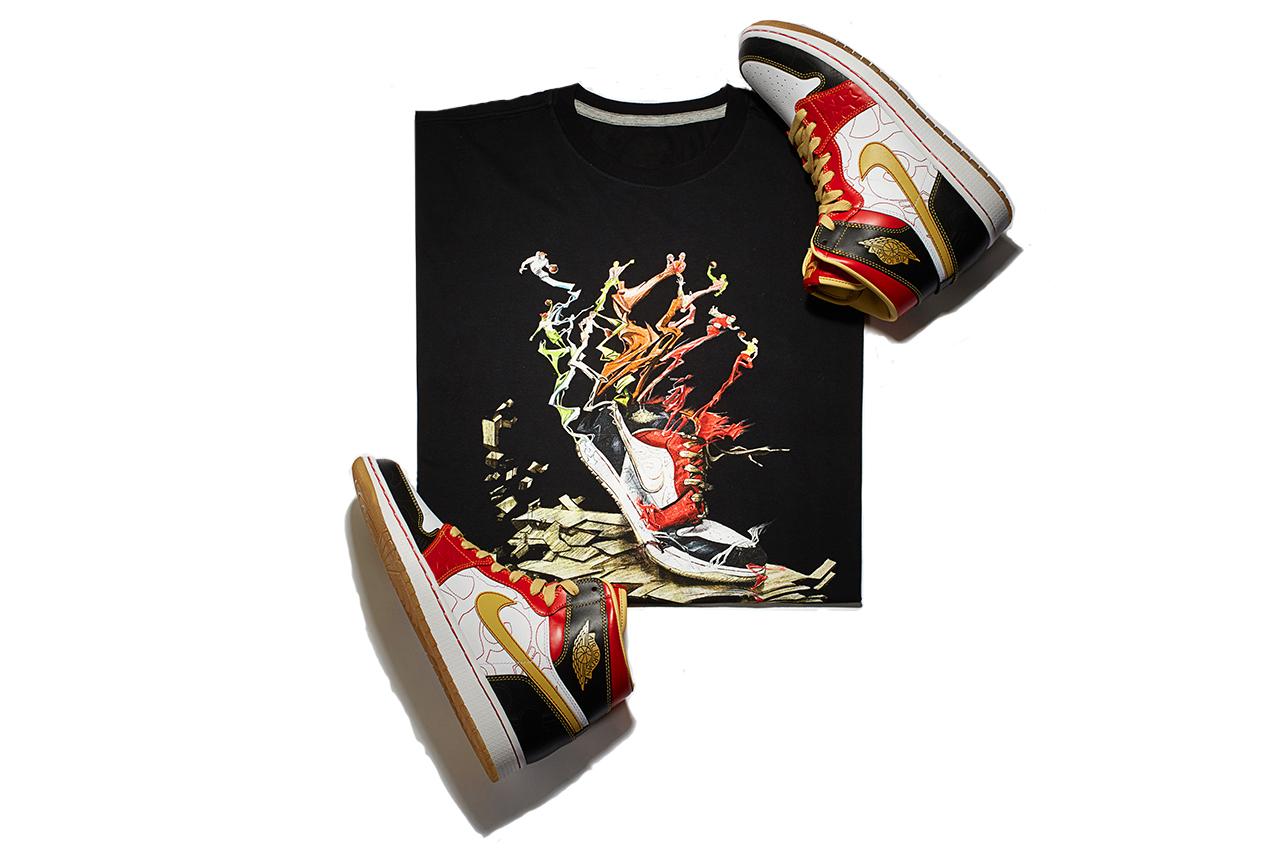 """Air Jordan 1 Retro High OG XQ """"Ignite Shanghai"""" T-Shirt"""