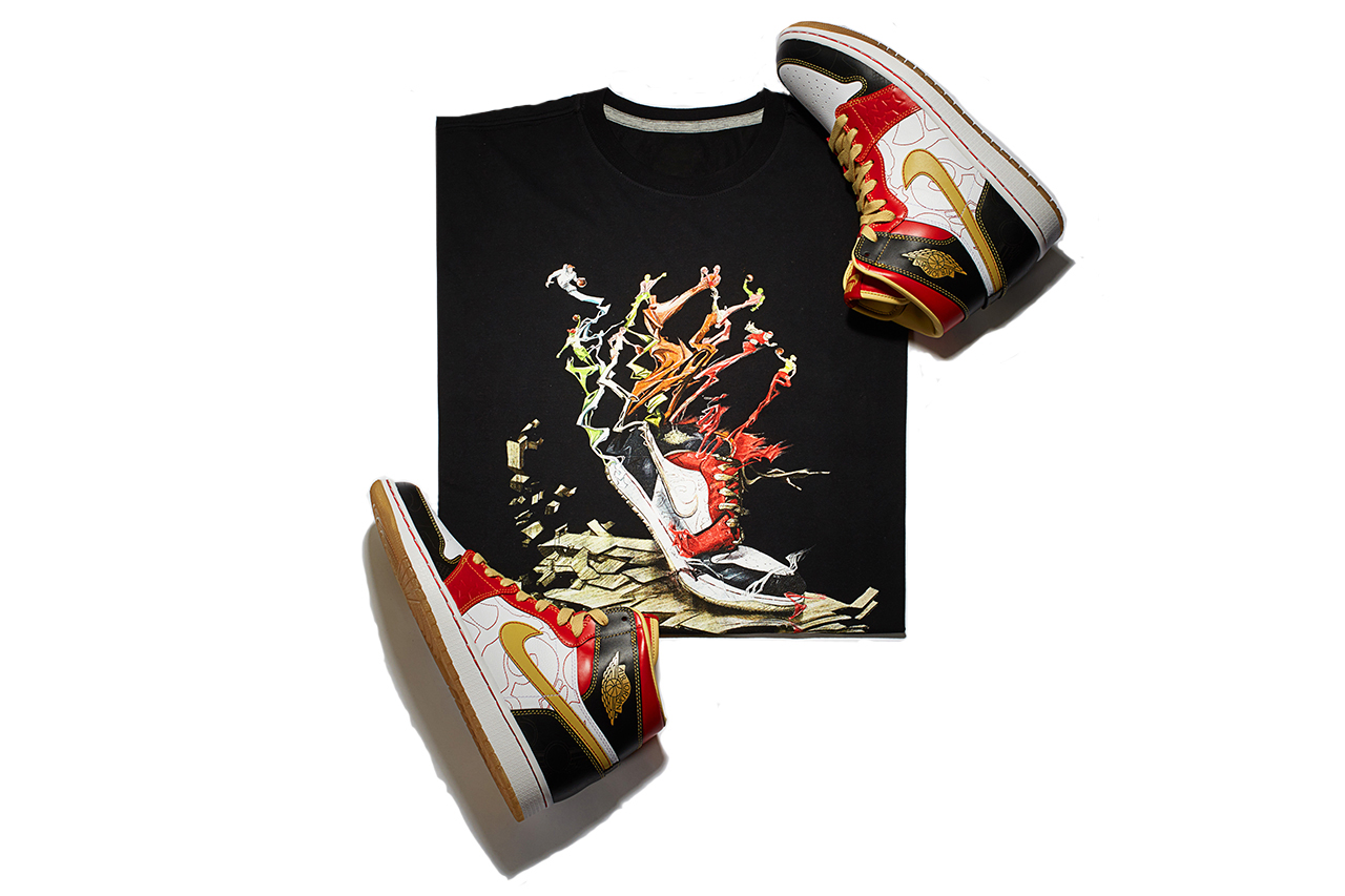"Air Jordan 1 Retro High OG XQ ""Ignite Shanghai"" T-Shirt"