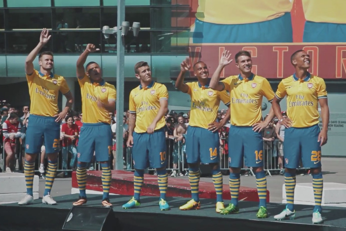 Alex Oxlade-Chamberlain Discusses the Arsenal 2014 Away Kit