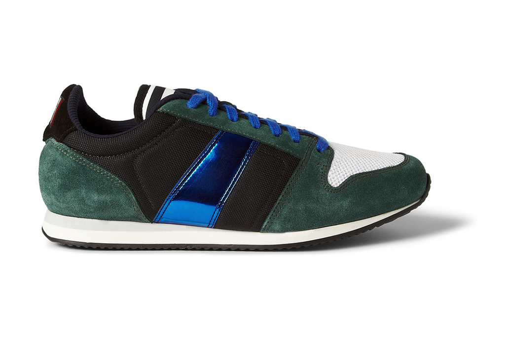 AMI Suede and Metallic Leather Sneakers