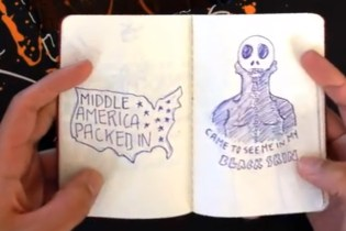 "An Artist Illustrates Kanye West's Black Skinhead in ""Black Moleskinhead"" 
