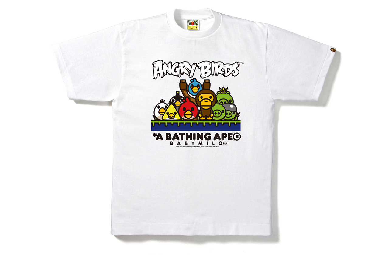Angry Birds x A Bathing Ape BABY MILO Tee