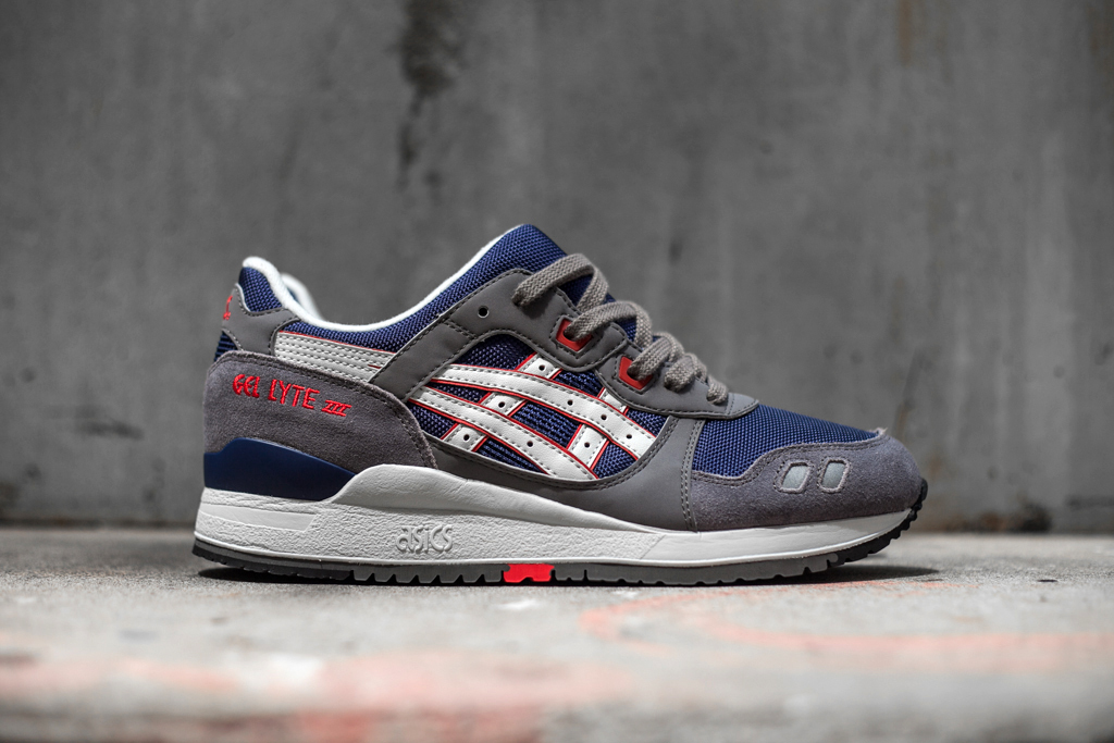 asics gel lyte iii grey navy