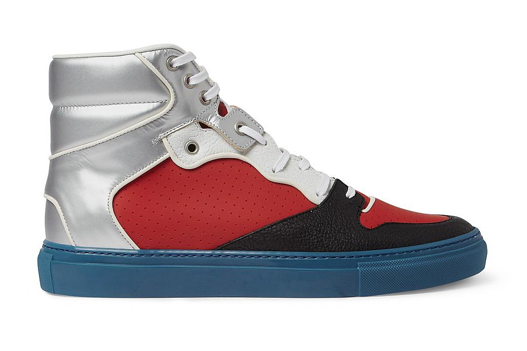 Balenciaga Panelled High Top Sneaker