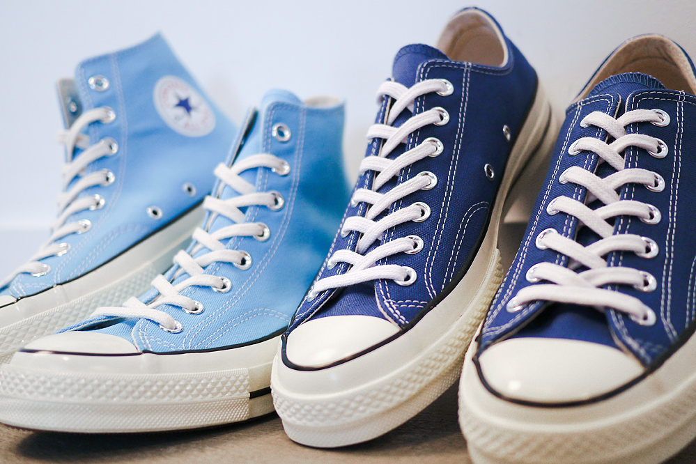 """Converse First String 1970s Chuck Taylor """"Heritage Blue"""" & """"True Navy"""""""