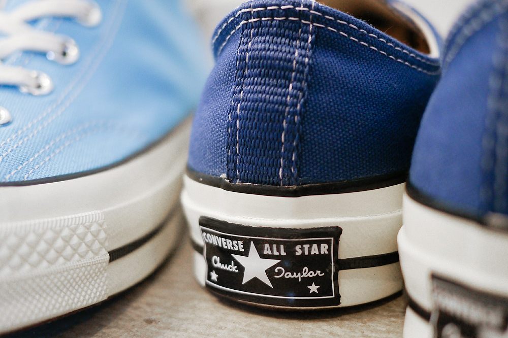 converse first string 1970s chuck taylor heritage blue true navy