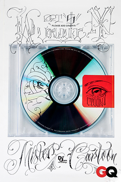 "GQ Asks its Favorite Artists to ""PLEASE ADD GRAFFITI"" to Kanye West's 'Yeezus'"