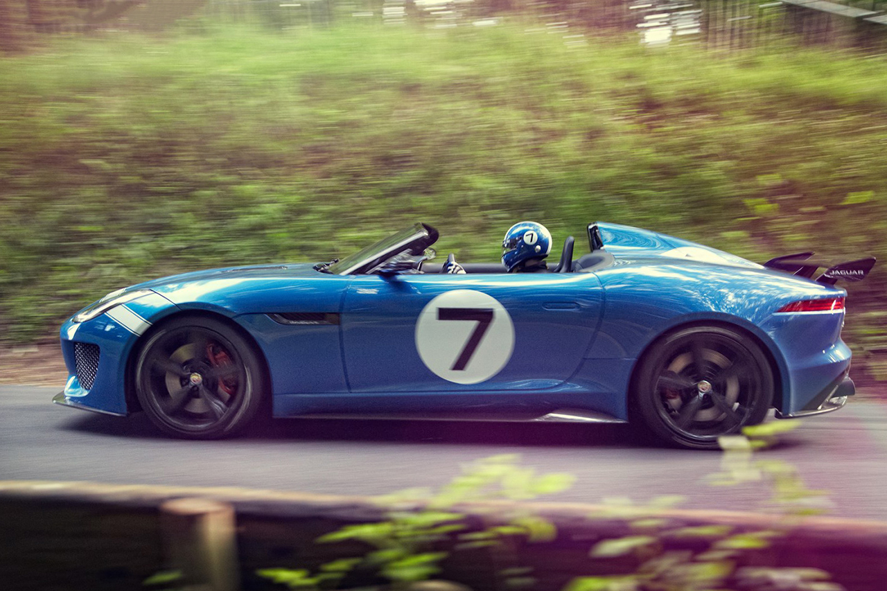 jaguar unveils the project 7 concept