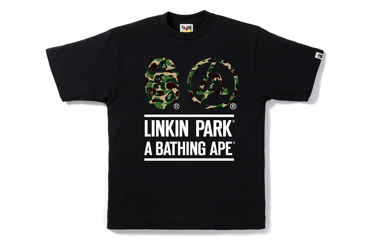 Linkin Park x A Bathing Ape 2013 BAPE CAMO TEE