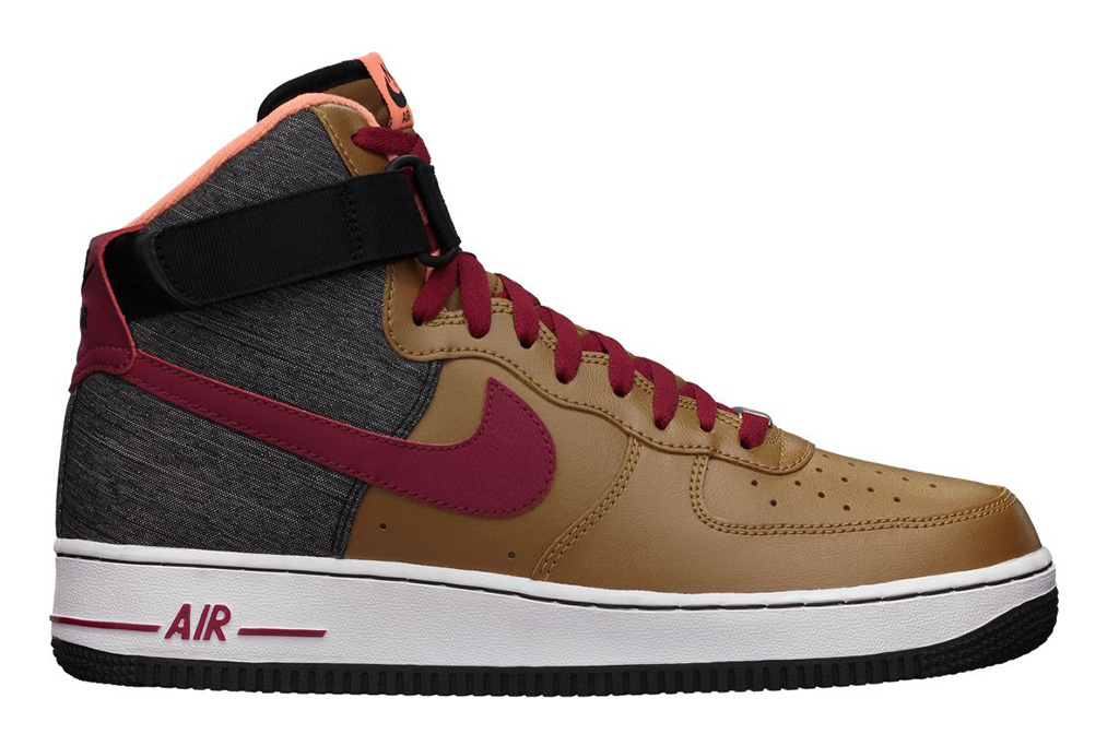nike sportswear air force 1 high 07 ale brown noble red black